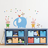 Wall Stickers Wall Decals Style Elephant Park PVC Wall Stickers