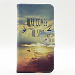 Come The Sun Pattern PU Leahter Full Body Case with Card Slot for Microsoft Lumia 640
