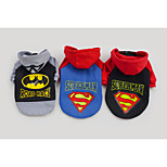 Black/Blue/Gray Super Hero Pet Products Cotton Hoodies For Dogs