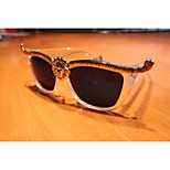 Europe And The United States Star Personality Lion Sunglass White