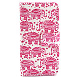 Elephant  Pattern PU Leather Case with Magnetic Snap and Card Slot for iPhone 5/5S