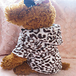 Holdhoney Brown Leopard Grain Quilted Hooded Outfit For Pets Dogs (Assorted Sizes) #LT15050161