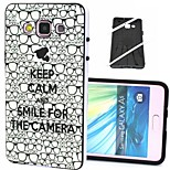 2-in-1 Keep Calm and Smile Pattern TPU Back Cover with PC Bumper Shockproof Soft Case for Samsung Galaxy A5/A500F