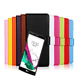 Multicolor Leather Plain Leather Wallet For LG G4 (Assorted Colors)