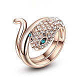 Z&X® Rose Gold Zircon Snake Shape Statement Rings Wedding/Party/Daily