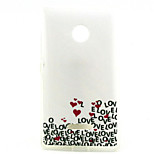 Love  Pattern TPU + IMD Soft Back Cover Case For Microsoft Lumia 435/Nokia N435
