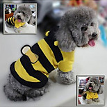 Cute Bee Jumpsuits with Hoodie for Pets