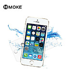 MOKE  Anti-Fingerprint with Cleaning Cloth Tempered Glass Screen Protector for iPhone5/5s/5c
