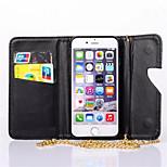 el setenta por ciento de descuento en cadena de tacón alto de encaje cartera de cuero para el iphone 6 más (colores surtidos)