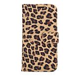 Leopard Ledertasche mit Kartenfächern und einer Halterung für m9