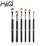 MSQ® 6pcs Makeup Brushes set Travel Black Stems Makeup Kit Cosmetic Brushes