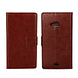 YMX-Solid color Crystal Surface PU Leather Full Body Case with Card Slot for Microsoft Lumia 535/435(Assorted Colors)