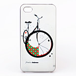 Bicycle Pattern ABS Hard Back Case for iPhone 4/4S