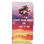 Color Balloons Pattern PU Material Card Sided Bracket Full Body Case for iPhone 5/5S