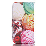 Ice Cream  Pattern PU Leather Double-Sided Phone Case For iPhone 5/5S