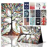 Karikatur-Baum-Grafik Ganzkörper-PU-Leder-PC-Kasten-Abdeckung mit Stand für Google-Verbindung 9 8.9in (verschiedene Farben)