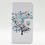 Flower Tree Pattern PU Leahter Full Body Case with Card Slot for Microsoft Lumia 640