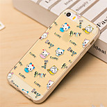 Expression Cat Pattern TPU Soft Case for iPhone 5/5S