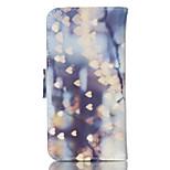 poco patrón de amor tarjeta de material de la PU se puso del lado del soporte caso de cuerpo completo para iphone 5 / 5s