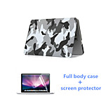 Fashion Camouflage Full Body Case with HD Screen Protector for Macbook Retina 15.4