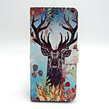 Deer Pattern PU Leather Material Card Full Body Case for iPhone 6