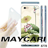 MAYCARI®Lotus Pond Pattern TPU Soft Transparent Back Case for iPhone 6
