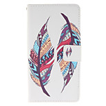 Tribal Feather Design PU Leather Full Body Protective Case with Stand Wiko Lenny