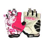 Basecamp® Cycling Gloves Fingerless Silica GeL Lycra Soft Mat Short Ride Bycicle Semi-finger Gloves Magenta BC-202