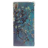 Glossy Painted Almond Tree TPU Soft Case for Sony Xperia M4 Aqua