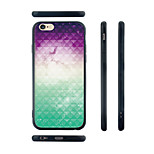 Gradient Color Pattern Transparent Silicone Rubber Edge Hard Back Case for iPhone 6/6S