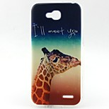 Giraffe Pattern TPU Material Phone Case for LG L90 D405