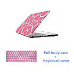Fashion Pink Purple Full Body Case Cover and Solid Color Keyboard Cover for Macbook Retina 13.3 inch (Assorted Colors)