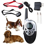 1000 Meters 4 in 1 Rechargeable Wireless Shock And Vibration Remote Bark Collar Dog Training Collar for 2 dogs