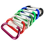 High Quality Climbing Carabiner Key Chain Clip Hook D-ring Aluminium Alloy(Assoted Colors)