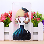 Flower Girl Pattern TPU Case for iPhone 5/5S