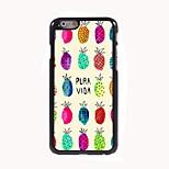 Lovely Pineapple Design Aluminum Hard Case for iPhone 6