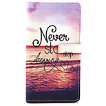 Adhere to the Dream Pattern PU Leather Painted Phone Case For Sony Xperia M2
