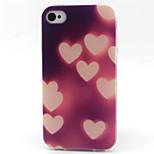 luci a forma di cuore cassa del telefono del modello TPU per il iPhone 4 / 4s