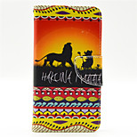 HAKUNA MATATA Lion Pattern PU Leahter Full Body Case with Card Slot for Microsoft Lumia 640