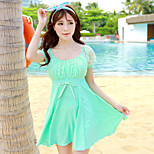 Women's With Sleeves Big Yards Conjoined Skirt Type Swimsuit
