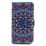 Big Round Flower Pattern PU Leather Phone Holster For iPhone 5/5S