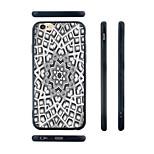 Octagon Flower Pattern Transparent Silica Gel Edge Back Case for iPhone 6