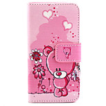Cubs Pattern PU Leather Material Card Full Body Case for iPhone 5/5S