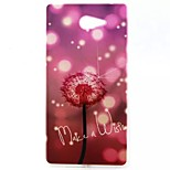 Painted Purple Dandelion TPU Back Cover Case for Sony Xperia M2