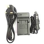 EU/AU/UK Power Cord 8.4V EN-EL1 NP-800 Car Charger for Nikon COOIPIX 4300 4800 / KONOCA MINOLTA DG-5W  DIMAGE A200
