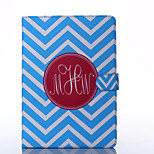 Blue and White Anchor Pattern PU Leather Full Body Case with Stand for iPad Air/iPad 5