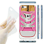 Pink Sneakers Pattern TPU Soft Back Case for iPhone 6