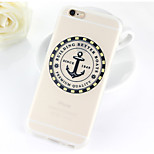 Ship Anchors Pattern TPU Soft Case for iPhone 6/6S