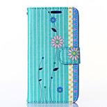 patrón de flores de la PU billetera leahter con ranura para tarjeta y Funda para Motorola MOTO g2