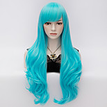 70cm Long Wavy Anime Cosplay Party Women Lady Sexy Harajuku Wig Long Party wigs Blue